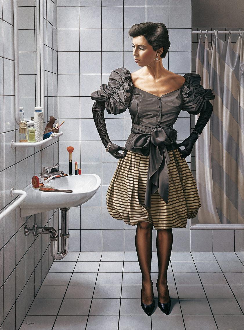 Vor dem Spiegel I. Acryl/Eitempera/Öl auf Leinwand