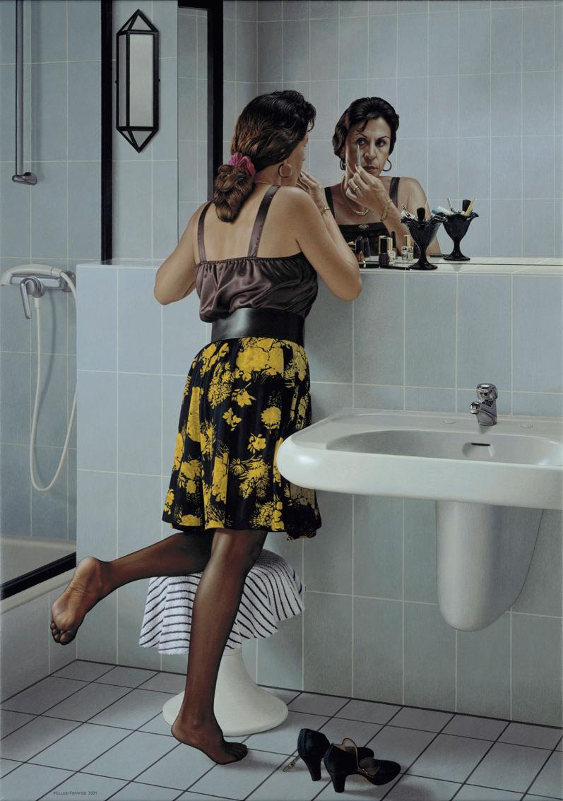 Vor dem Spiegel II. Acryl auf Leinwand