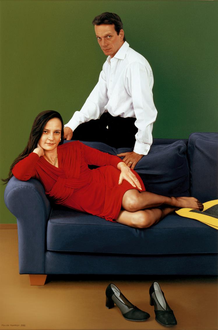 Portrait eines Paares. Acryl auf Leinwand