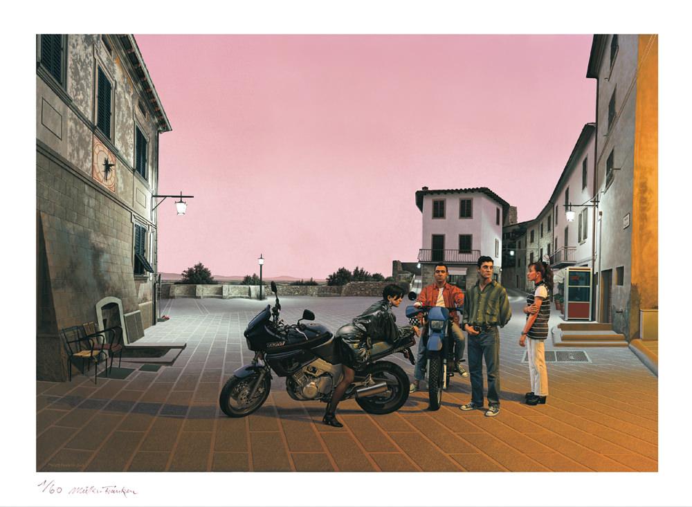 Piazza Mazzini. Kunstdruck